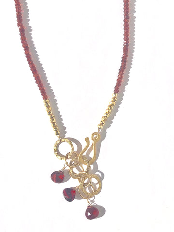 Modern Exotic Garnet Necklace - SOLD OUT