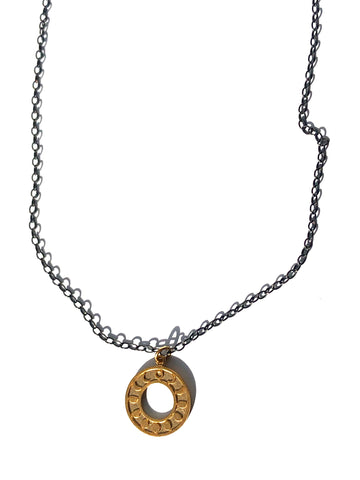 Phases of the Moon on Chain Necklace