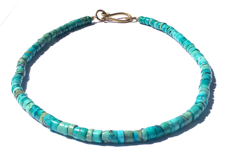 Heishi Cut Turquoise Necklace