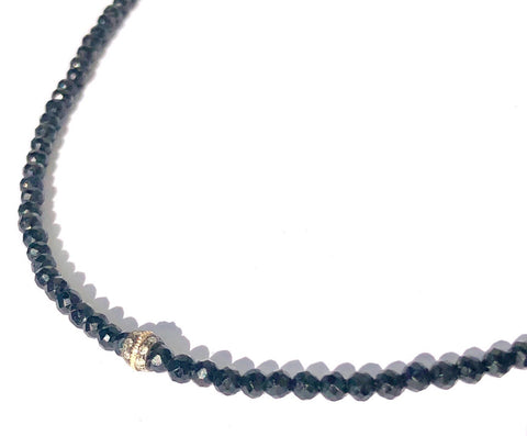 Black Onyx & Diamond Choker Necklace
