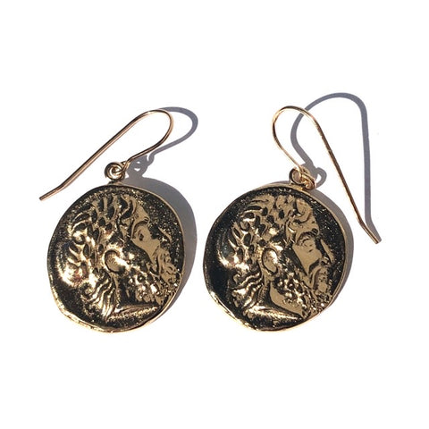 ZEUS Coin Earrings