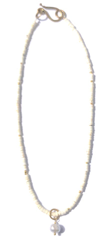 White Turquoise & Pearl Necklace
