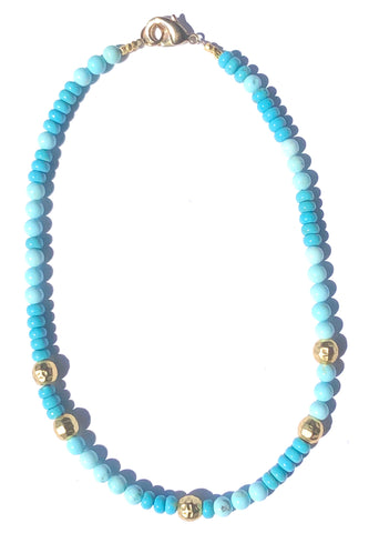 Multi Turquoise & Gold Necklace