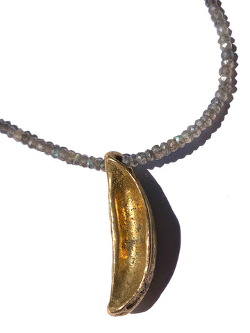 Brass & Labradorite Cinta Necklace