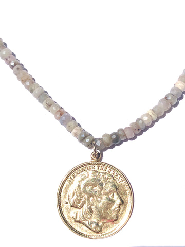 Silverite Coin Necklace