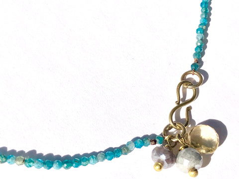 Delicate Blue Chrysacola Necklace