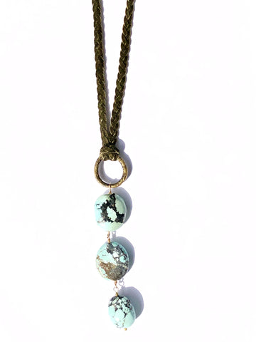 Modern Cowgirl Turquoise Necklace