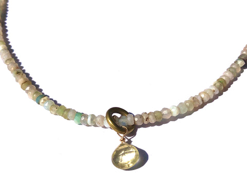 Lemon Drop Peruvian Opal & Lemon Quartz Necklace