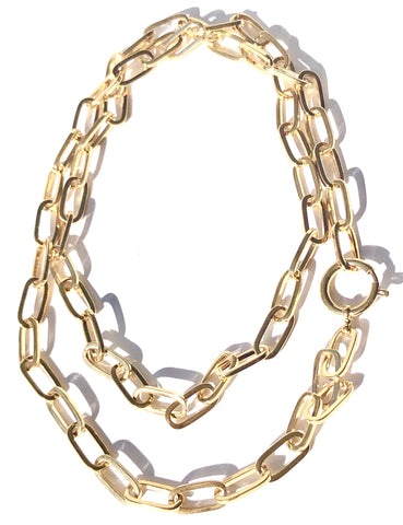 Supersize Me Gold Chain Necklace