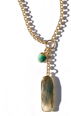 Labradorite & Fuchsite Necklace