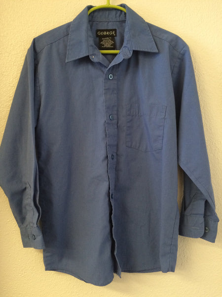 Size 6/7 George Blue Button-Down Shirt