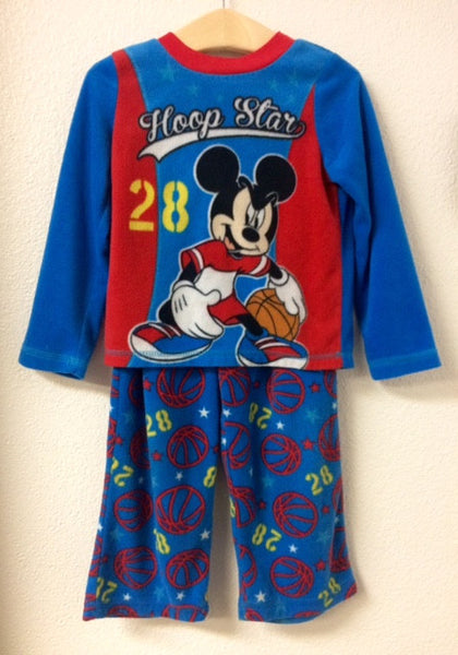 4T Disney Mickey Mouse Fleece Pajamas