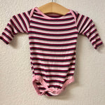 NB Kickee Pants Long Sleeve Striped Onesie