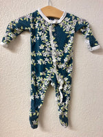NB Kickee Pants Floral Pajamas