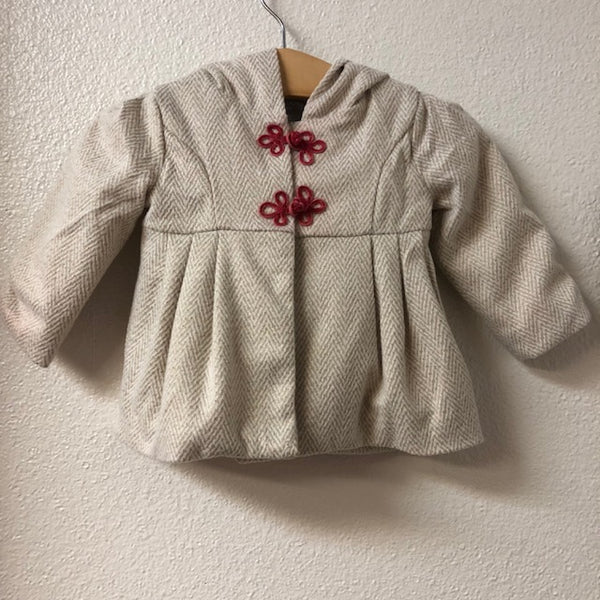 0-3M Tahari Baby Gold and Cream Coat