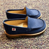 Size 9 Pazitos Blue Leather Slip On Shoes
