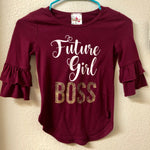 Size 8 Jenna & Jessie Boss Girl Shirt