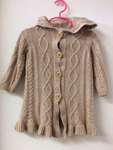 2T Janie and Jack Long Hooded Sweater