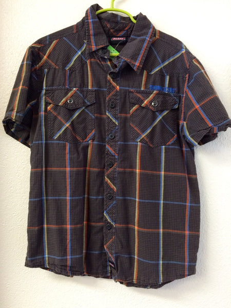 Size 10/12 Dickies Plaid Short Sleeve Shirt
