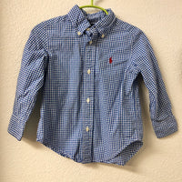 2T Ralph Lauren Blue Checkered Shirt