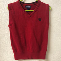 5T Chaps Red Sweater Vest