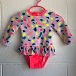09M Cat & Jack Long Sleeve Bathing Suit