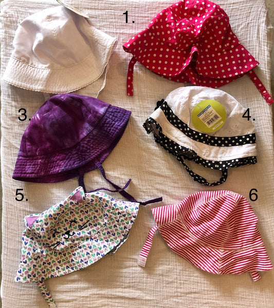 9-18M Girls Sun Hats