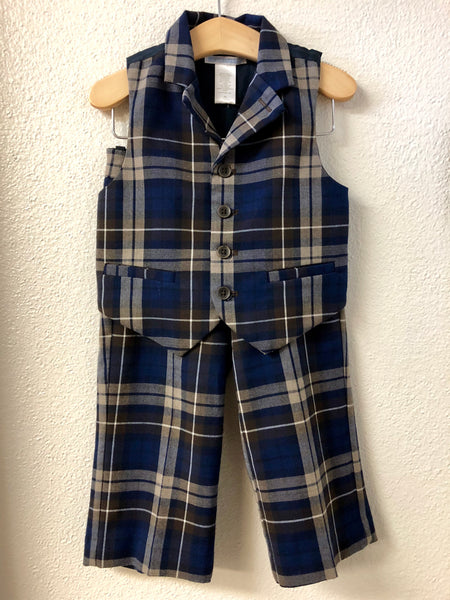 b17cfb2f5 2T Janie and Jack Plaid vest and Pants