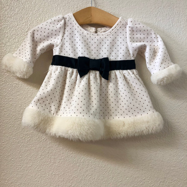 0NB Little Wonders Fur Trim Dress