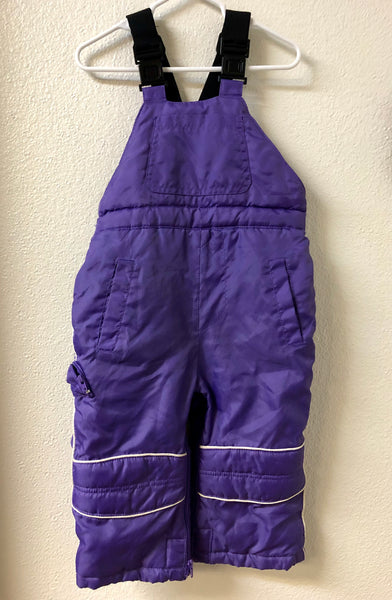 24M Children's Place Purple Snow Bib