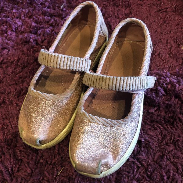 Size 10 Toms Glitter Shoes