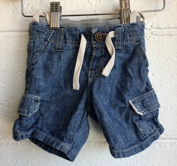 3-6M Baby Gap Denim Shorts