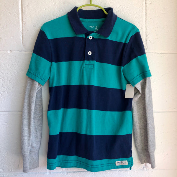 Size 6/7 Gap Striped Rugby Shirt