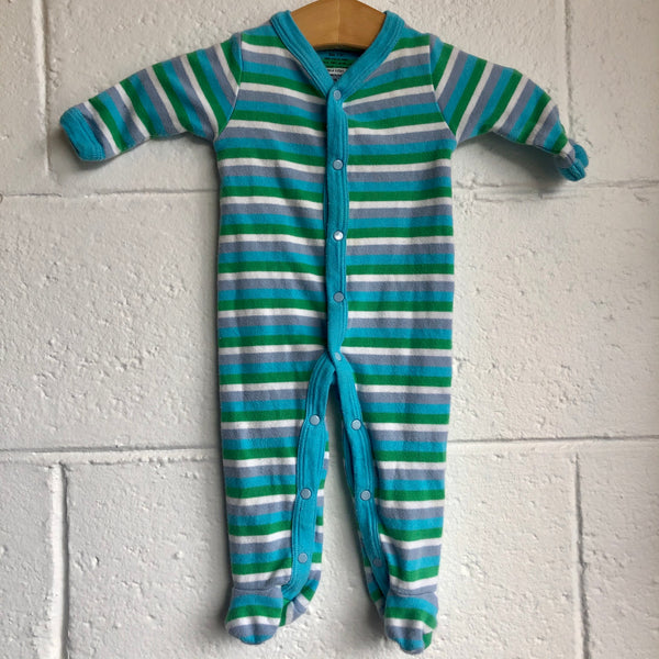 0-3M Sage Creek Organic Striped Romper