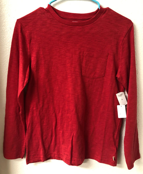 Size 10 Gap Kids Red Long Sleeve Shirt