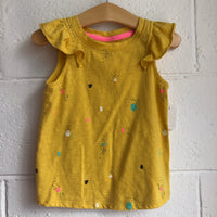 3T Cat & Jack Yellow Tank Top