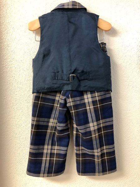 60c5c2507 2T Janie and Jack Plaid vest and Pants – JuJuBees
