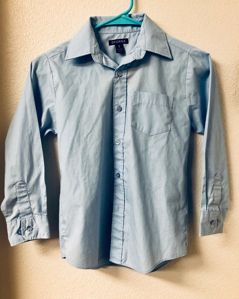 Size 8 George Button Down Long Sleeve Shirt