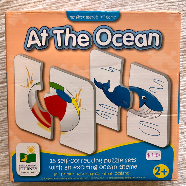 The Learning Journey At The Ocean Match It Game