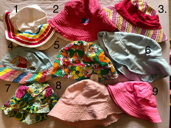 Toddler Girl Sun Hats