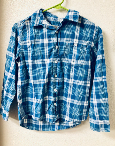 Size 8/10 Cherokee Plaid Button Down Long Sleeve Shirt