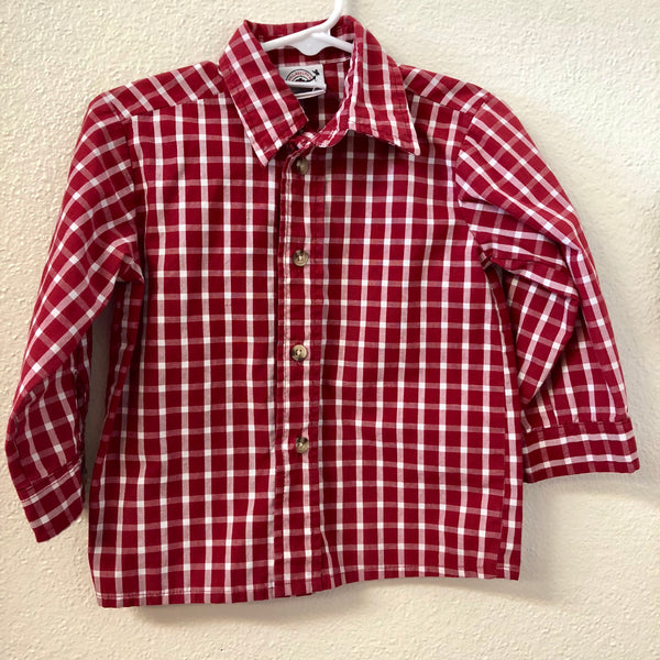 2T Goodlad Red Plaid Shirt