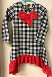 Size 8 Mia Belle Baby Couture Plaid Bow Dress