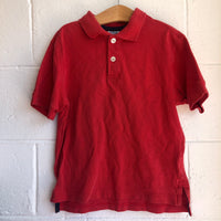 Size 6/7 (120) Hanna Andersson Red Polo Shirt