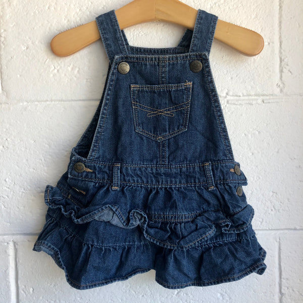 06-12M Baby Gap Overall Denim Jumper Dress