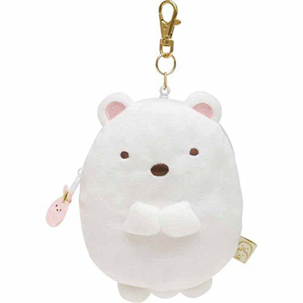 NEW San-X Sumikko Gurashi Soft Stuffed Doll ID Pass Case Polar Bear White Cute