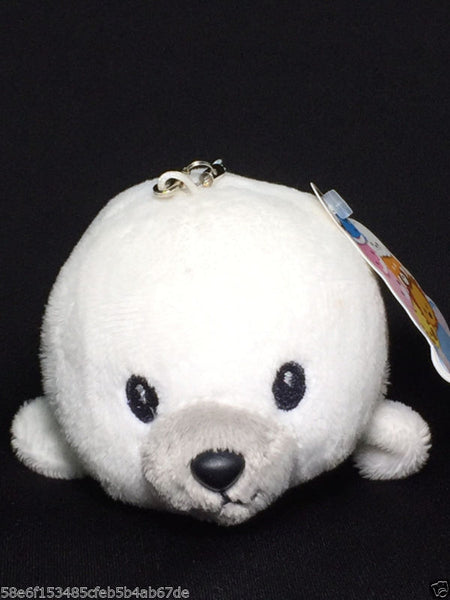 Tsumare tai Harbor seal Cute Animals Mascot 4.7 inch Plush for bag Cellphone