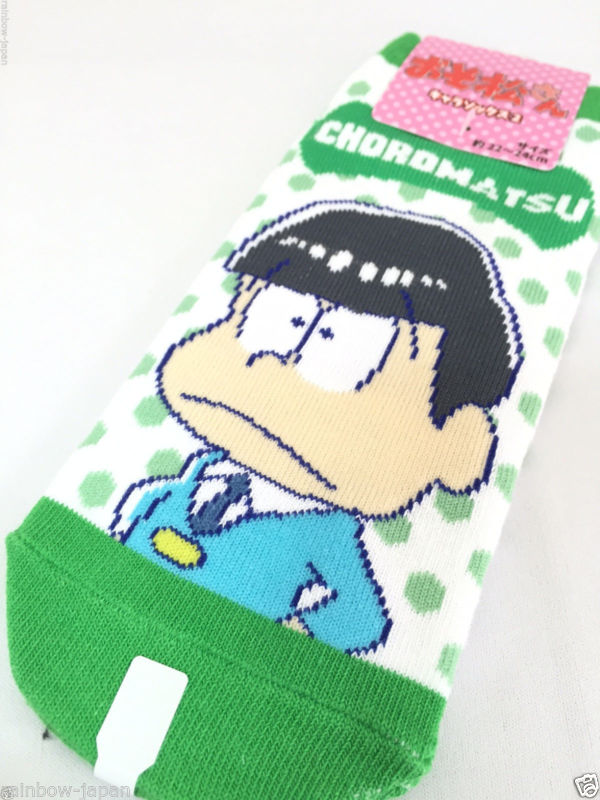 Choromatsu Socks 1pair 22 -24 cm Osomatsu san Japan Anime Animation Women's
