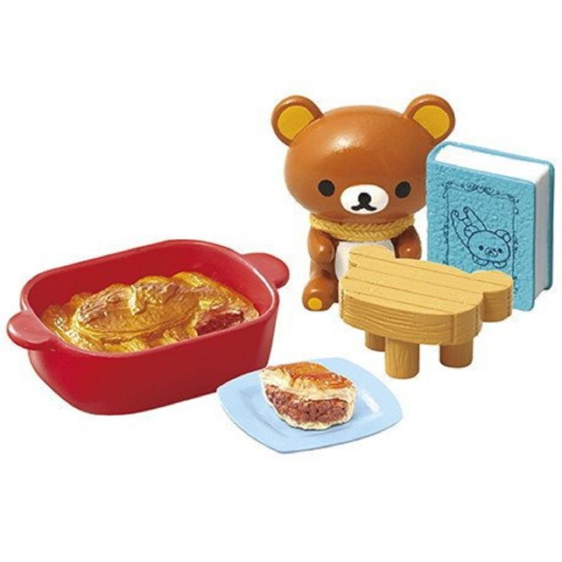 NEW in Box Miniature figure Toys San-X Rilakkuma Relax Bear 4 Christmas Gift