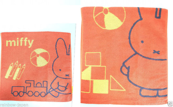 Miffy Bunny Face & Hand Towel Set Red Cotton 100% Friends Kawaii Anime Japan